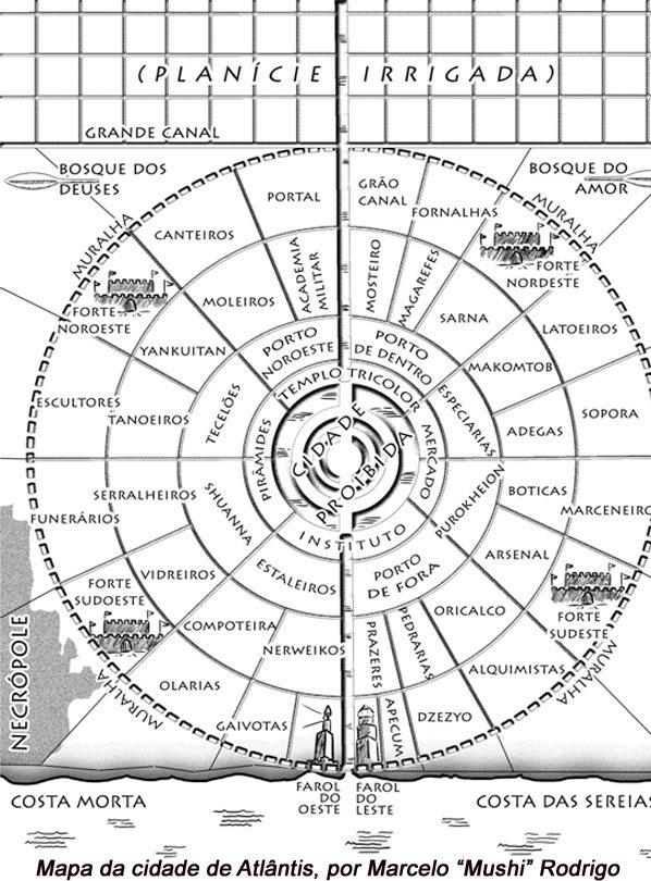 "As cidades de ""Crônicas de Atlântida"": Atlântis"