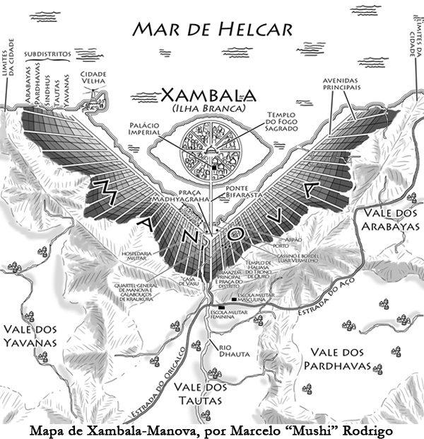 """As cidades de """"Crônicas de Atlântida"""": Xambala-Manova"""