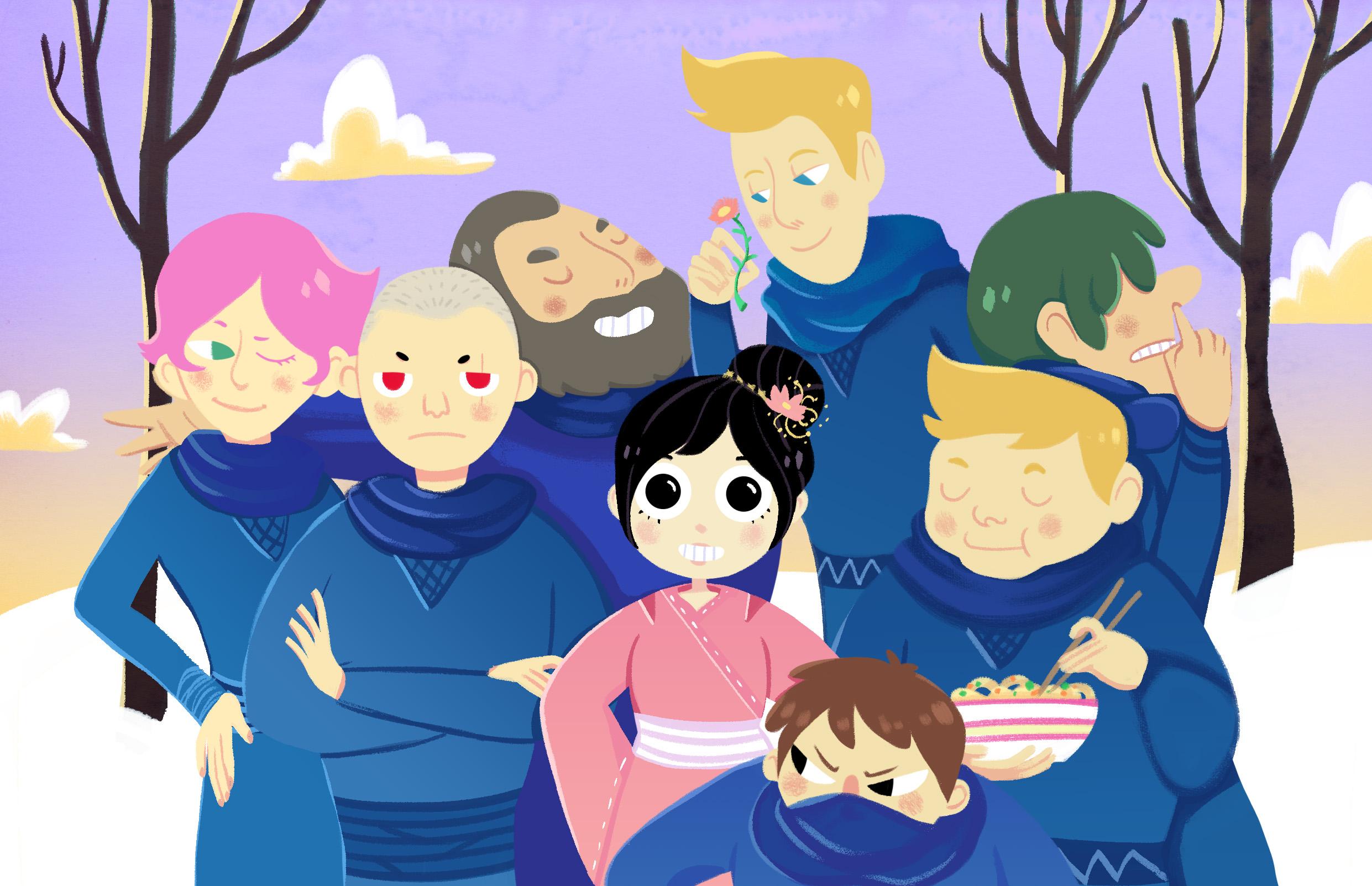 Samurais x Ninjas: Como escrevi Filha da Neve e os Sete Ninjas