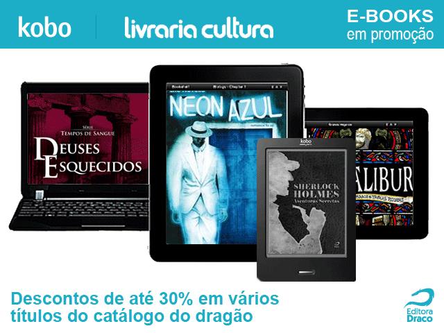Promoção de e-books na Livraria Cultura e Kobo