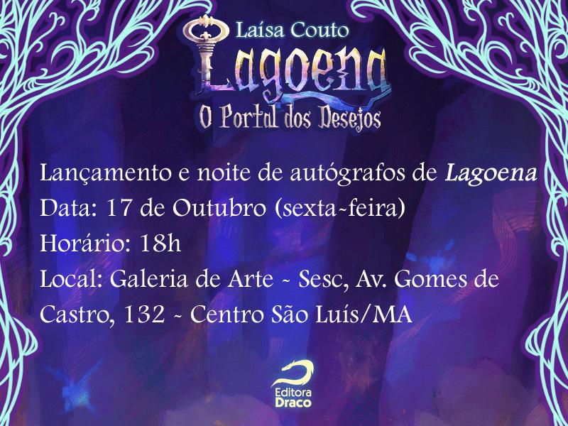 """Lançamento de """"Lagoena"""", de Laísa Couto em São Luiz – Maranhão"""