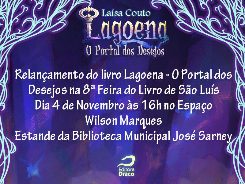 """Sessões de autógrafos do livro """"Lagoena"""" em São Luís, Maranhão"""