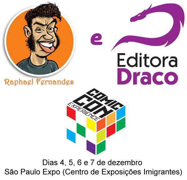 Raphael Fernandes e Quadrinhos da Draco no Comic Con Experience