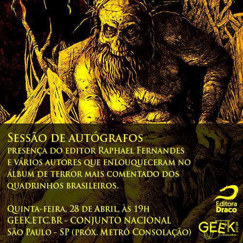 O Rei Amarelo em Quadrinhos – Sessão de autógrafos na Livraria Cultura – Geek.etc.br